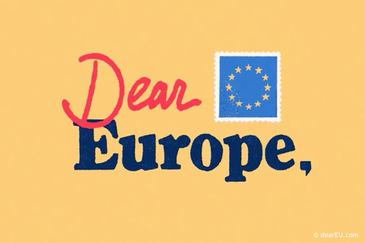 "Screenshot Video ""Dear Europe"" © dearEU.com"