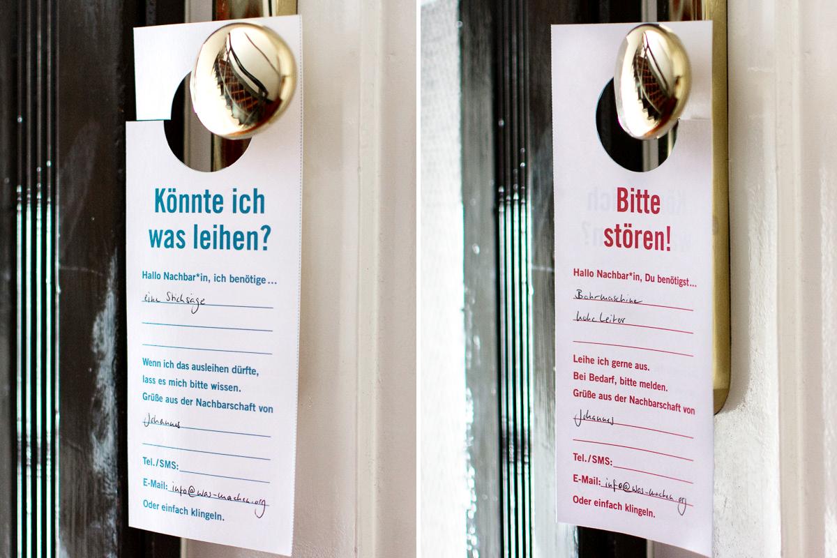 """Bitte stören""-Doorhanger an Türknauf"