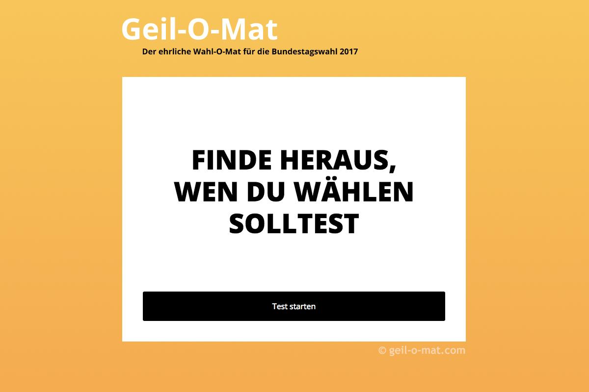 Screenshot geil-o-mat.com