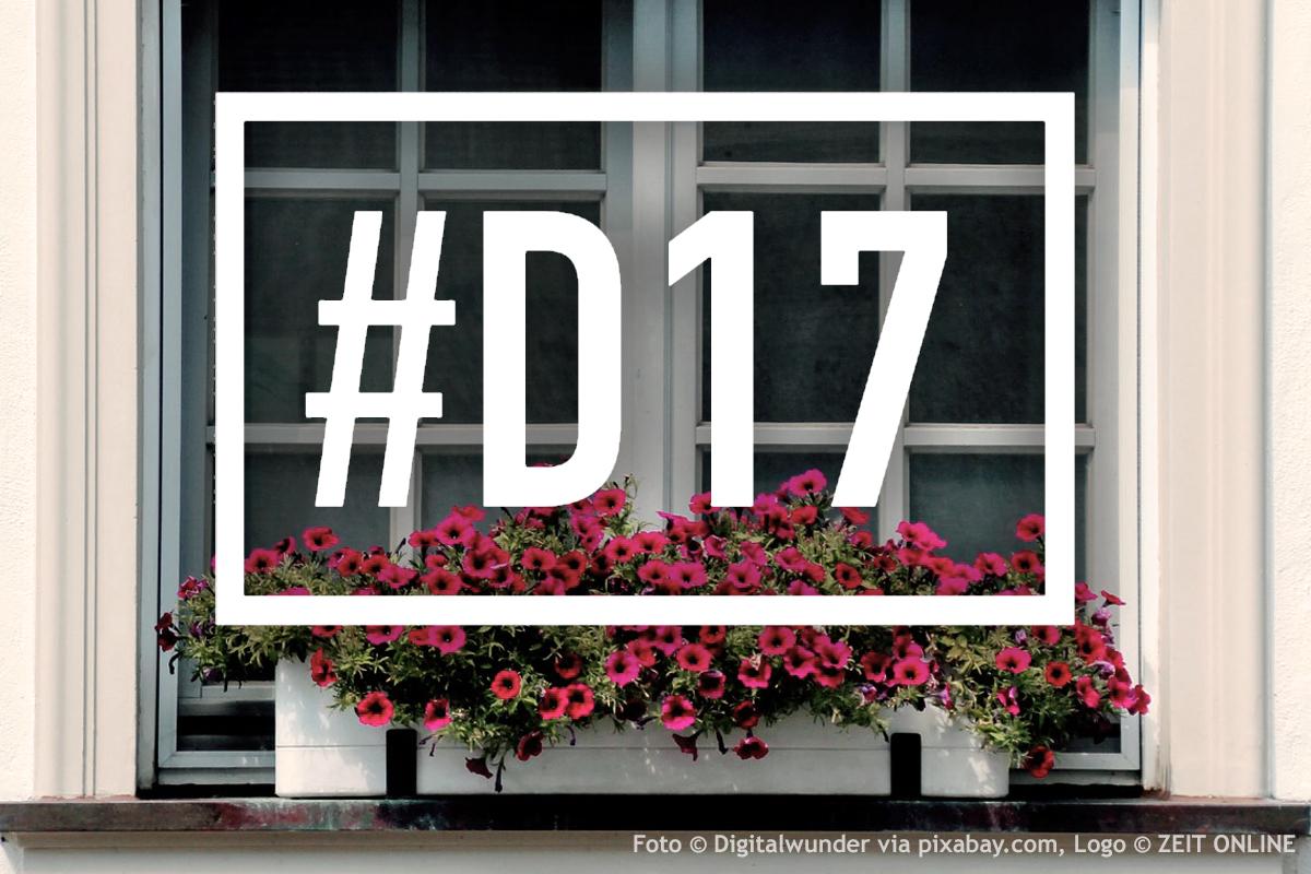 #D17 Logo über dem Fenster eines Wohnhauses