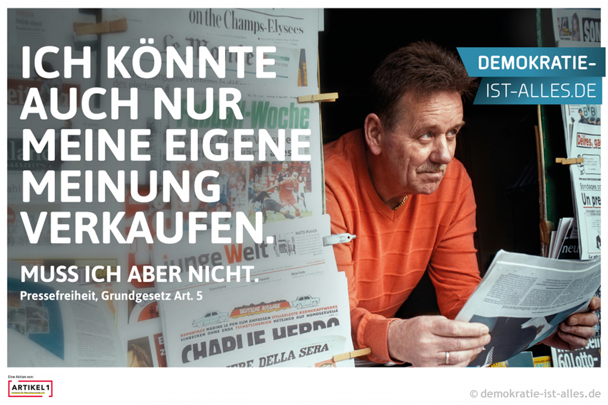 "Motiv ""Kioskbetreiber"" der Kampagne demokratie-ist-alles.de"