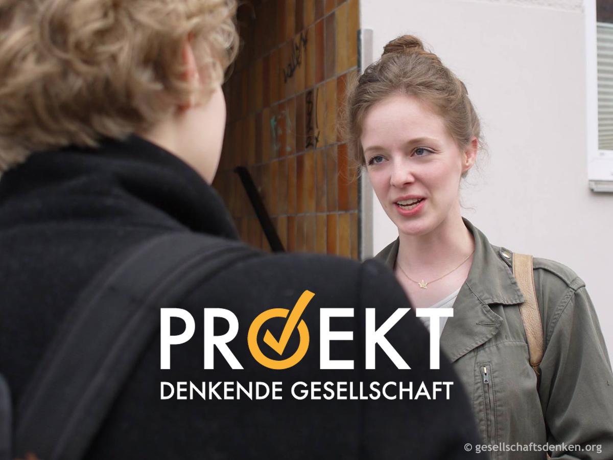 Türgespräch des Projekts Denkende Gesellschaft