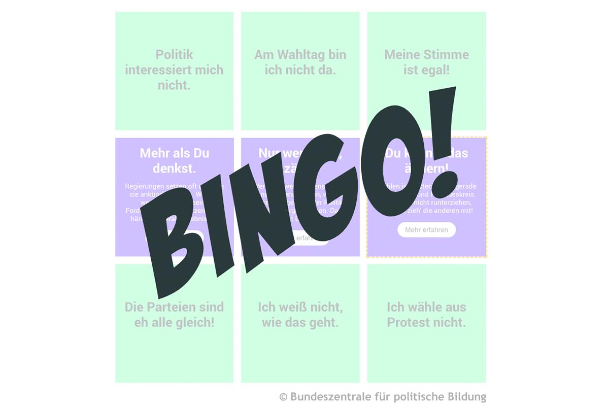 Screenshot wahlbingo.bpb.de © Bundeszentrale für politische Bildung