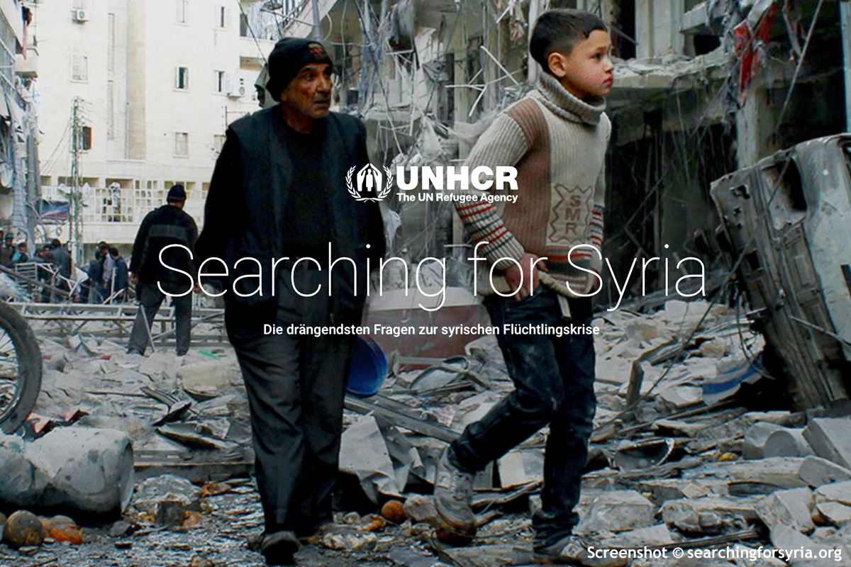 Screenshot © searchingforsyria.org