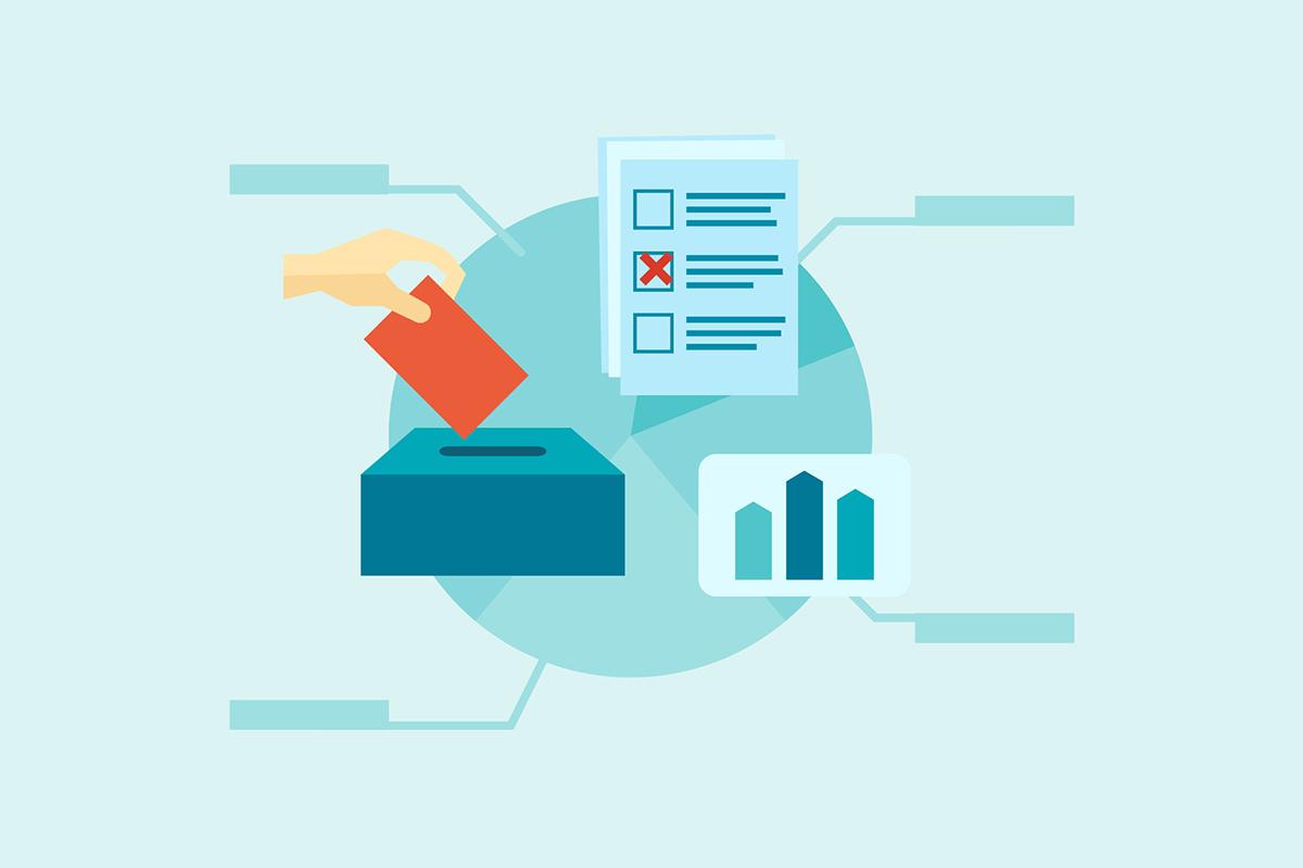 Illustration zu Wahlhelfer*in zur Bundestagswahl