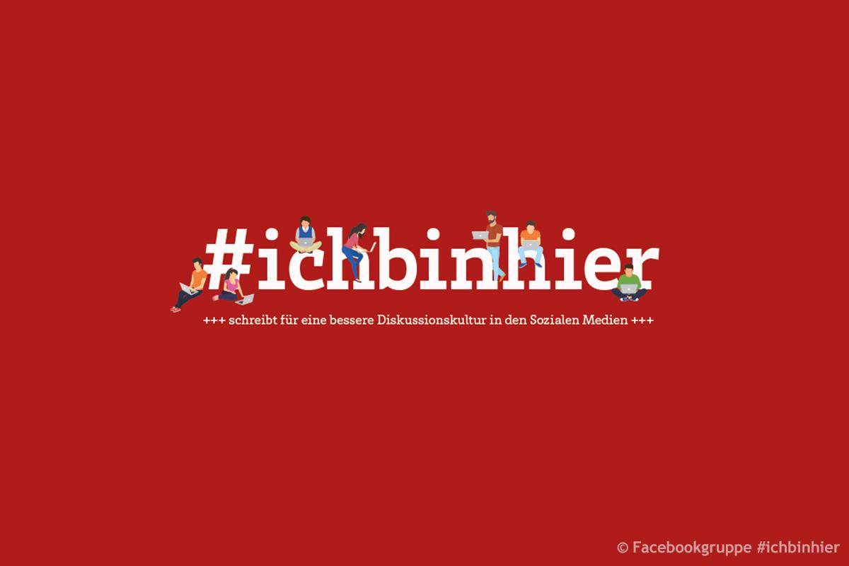 Titelbild Facebookgruppe #ichbinhier