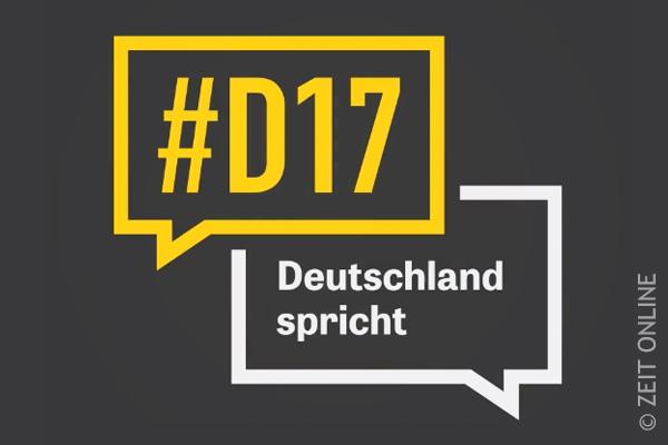 D17 Deutschland spricht Logo © Zeit Online