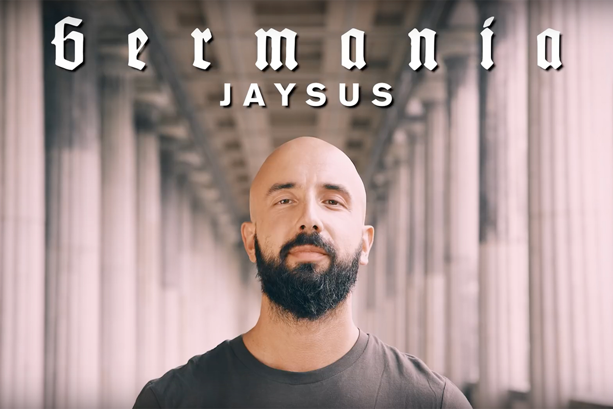 "Rapper Jaysus im Intro des ""Germania""-Videos"